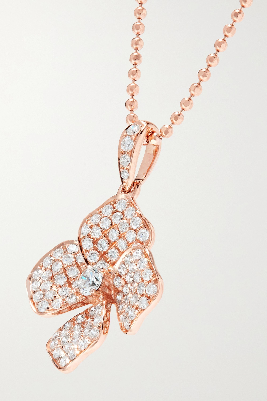 Anita Ko 18-karat rose gold diamond necklace