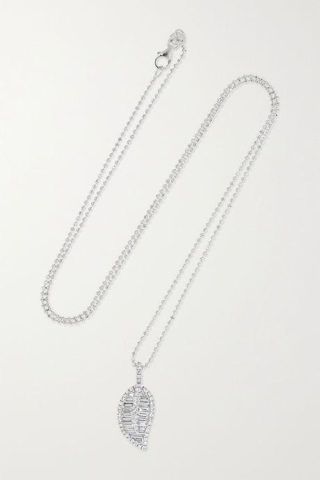 White gold 18-karat white gold diamond necklace | Anita Ko z9Sbrw