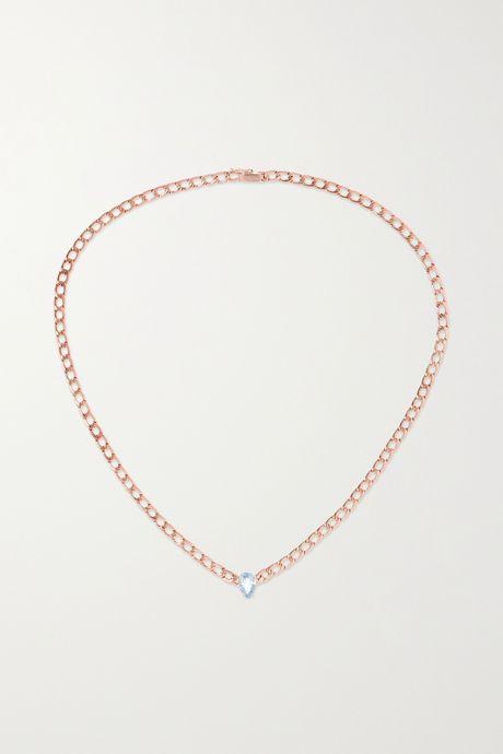 Rose gold 18-karat rose gold sapphire necklace | Anita Ko X3yv3f