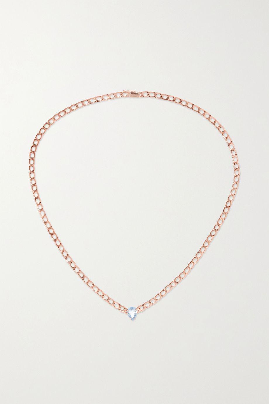 Anita Ko 18-karat rose gold sapphire necklace