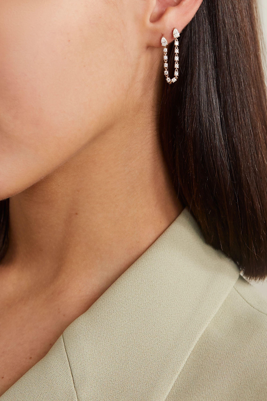 Anita Ko Double 18-karat rose gold diamond earring