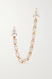 Anita Ko Double 18-karat rose gold diamond earring