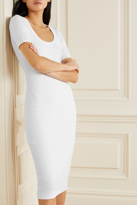 Ninety Percent Ribbed stretch-organic cotton midi dress