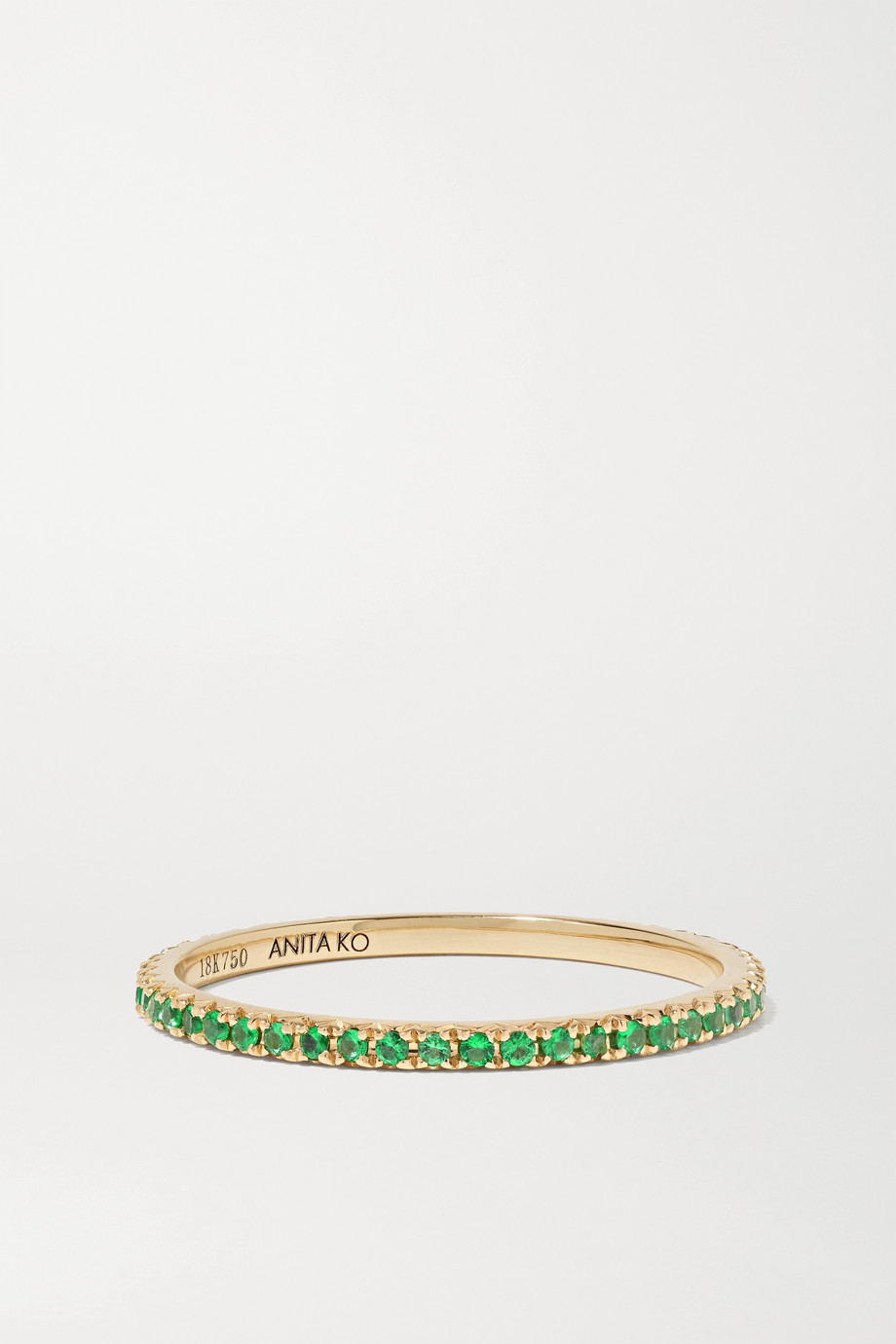 Anita Ko 18-karat gold emerald ring