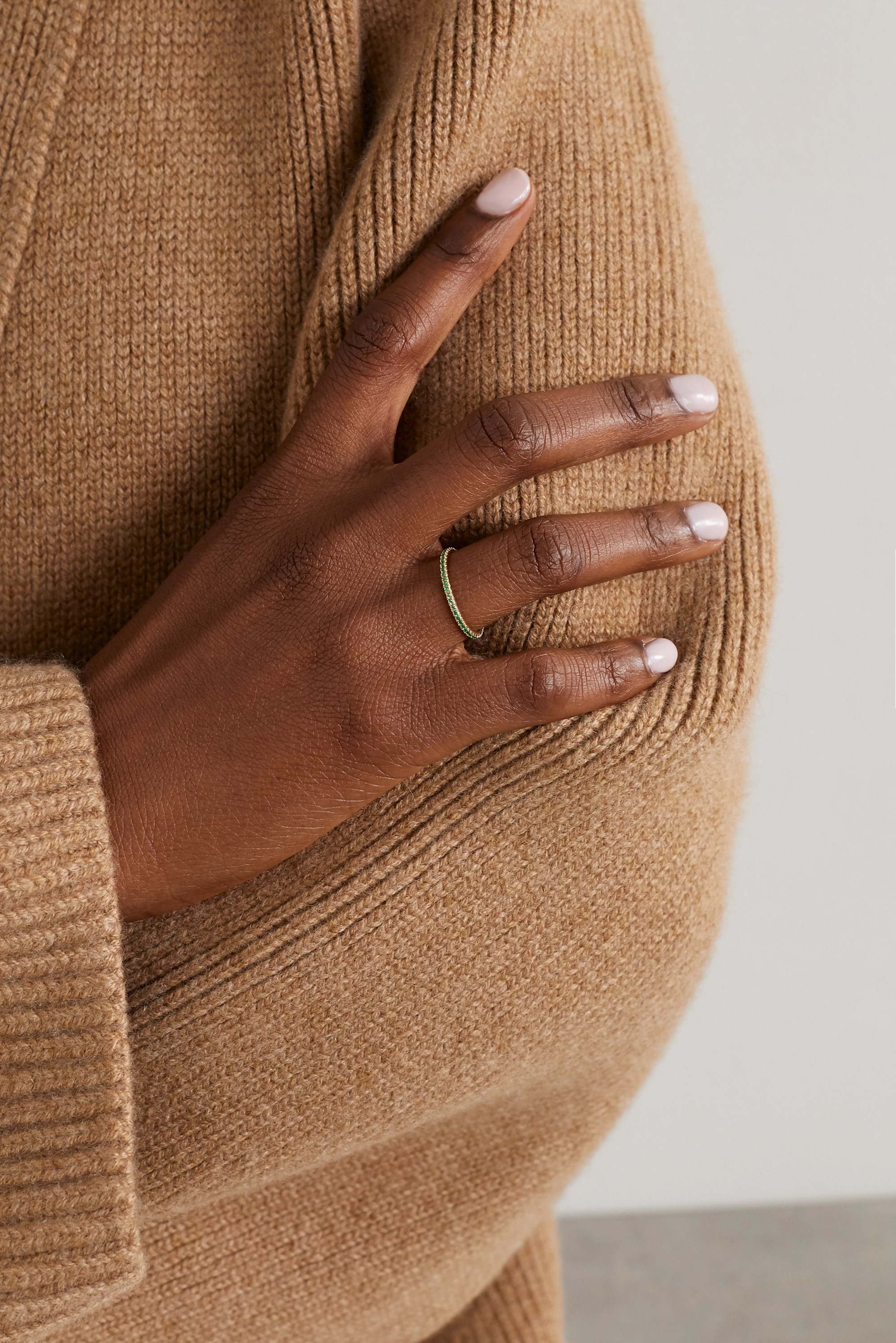 Anita Ko 18-karat gold emerald ring