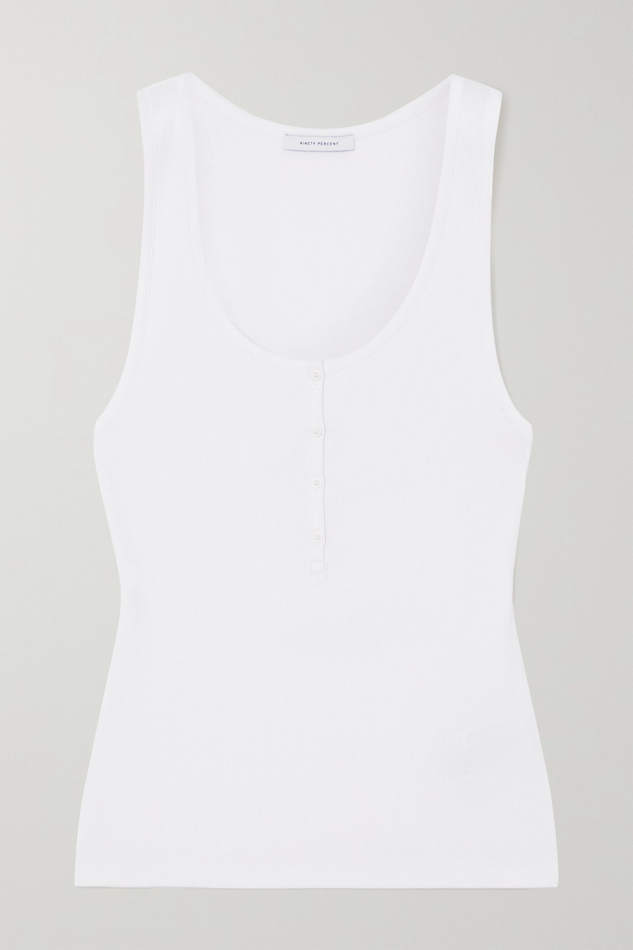 Ninety Percent + NET SUSTAIN ribbed stretch organic cotton tank