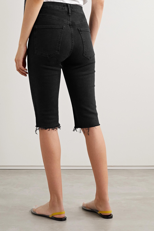 AGOLDE Carrie frayed denim shorts