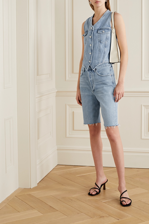AGOLDE '90s frayed denim shorts