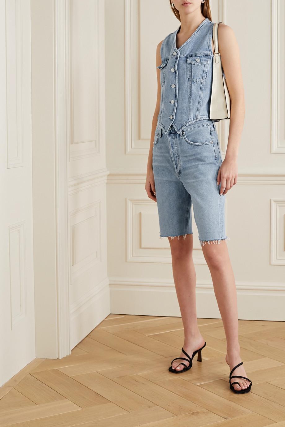 AGOLDE Short en jean effilé '90s