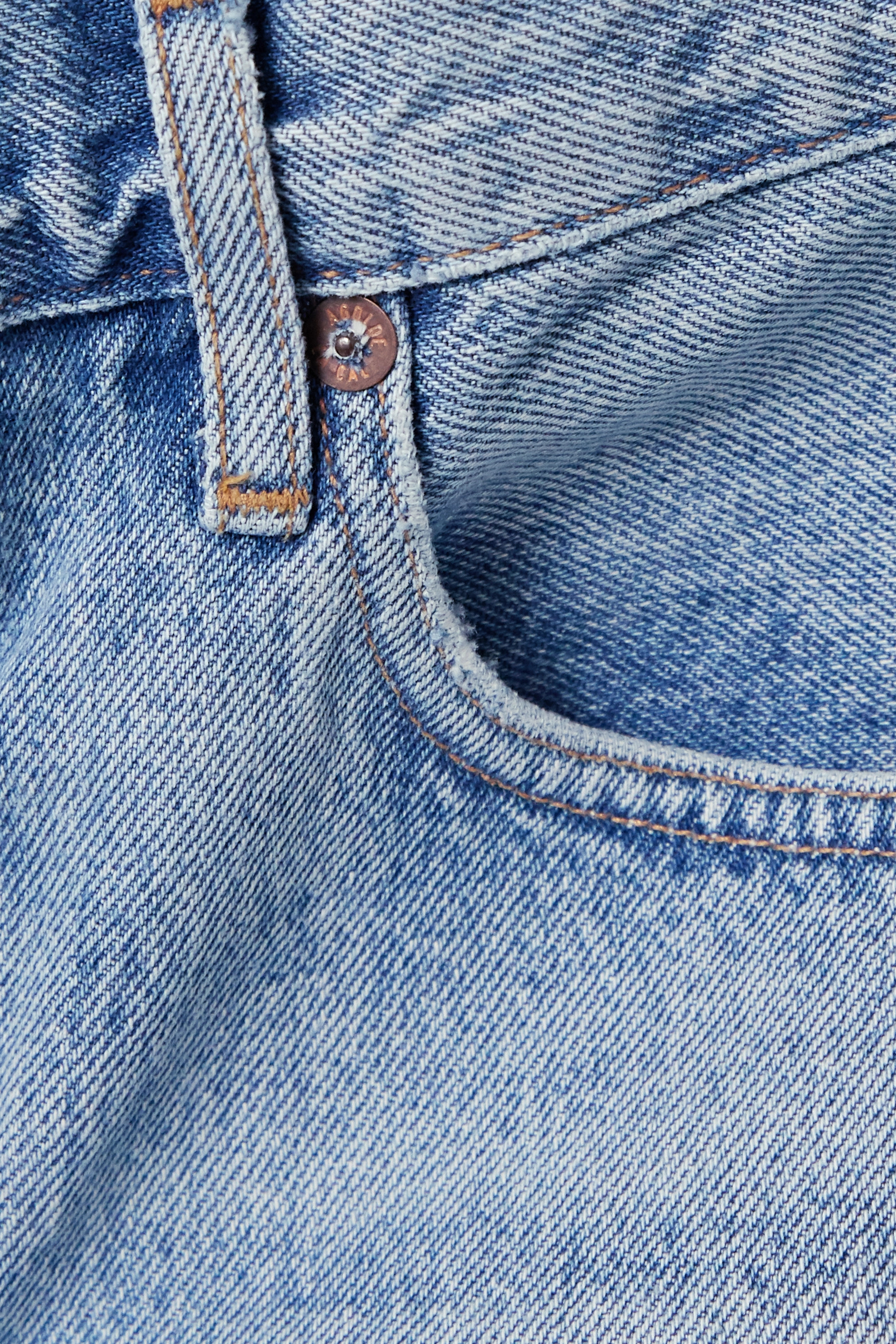 AGOLDE Rumi frayed denim shorts