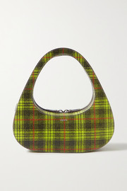 Coperni Swipe checked textured-leather tote