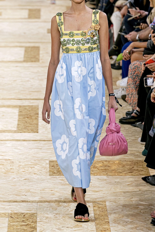 Miu Miu Crystal-embellished grosgrain, canvas and appliquéd cotton-poplin dress