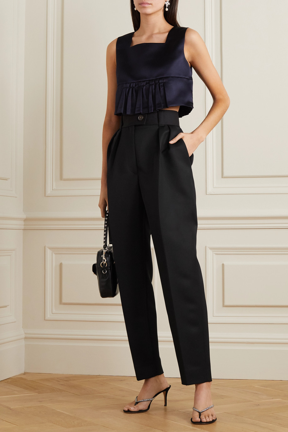 Miu Miu Pleated wool tapered pants
