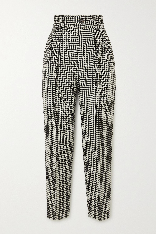 Miu Miu Houndstooth wool straight-leg pants