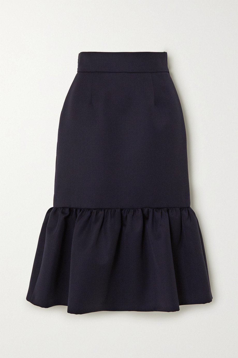 Miu Miu Ruffled wool skirt