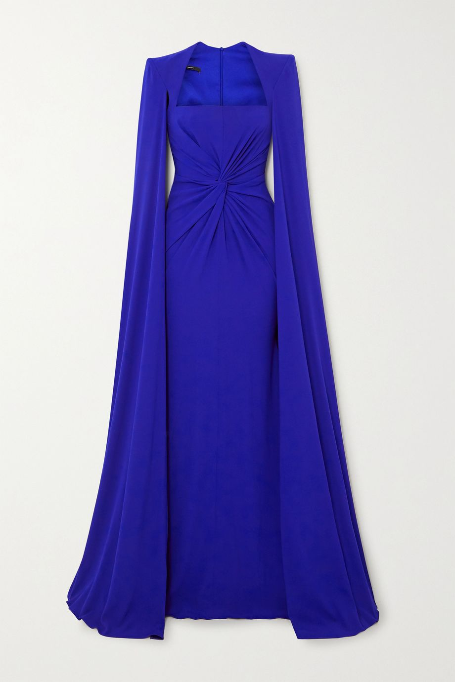 Alex Perry Kennedy cape-effect twist-front crepe gown