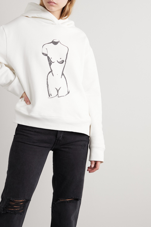 STAUD International Women's Day oversized printed organic cotton-fleece hoodie