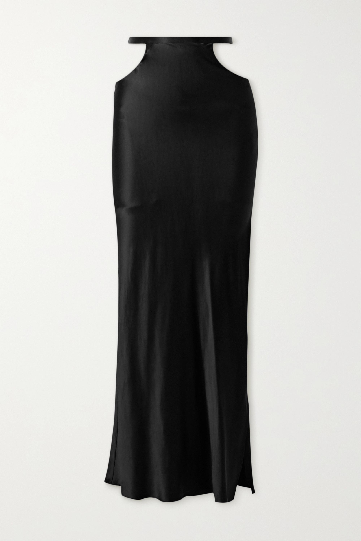 Michael Lo Sordo Cutout silk-satin maxi skirt
