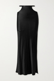 Michael Lo Sordo Cutout silk-satin maxi skirt