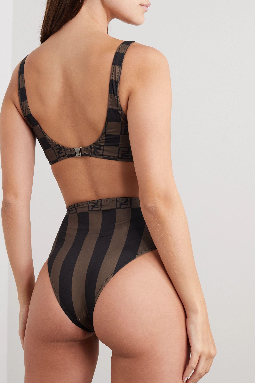 Fendi Printed underwired bikini