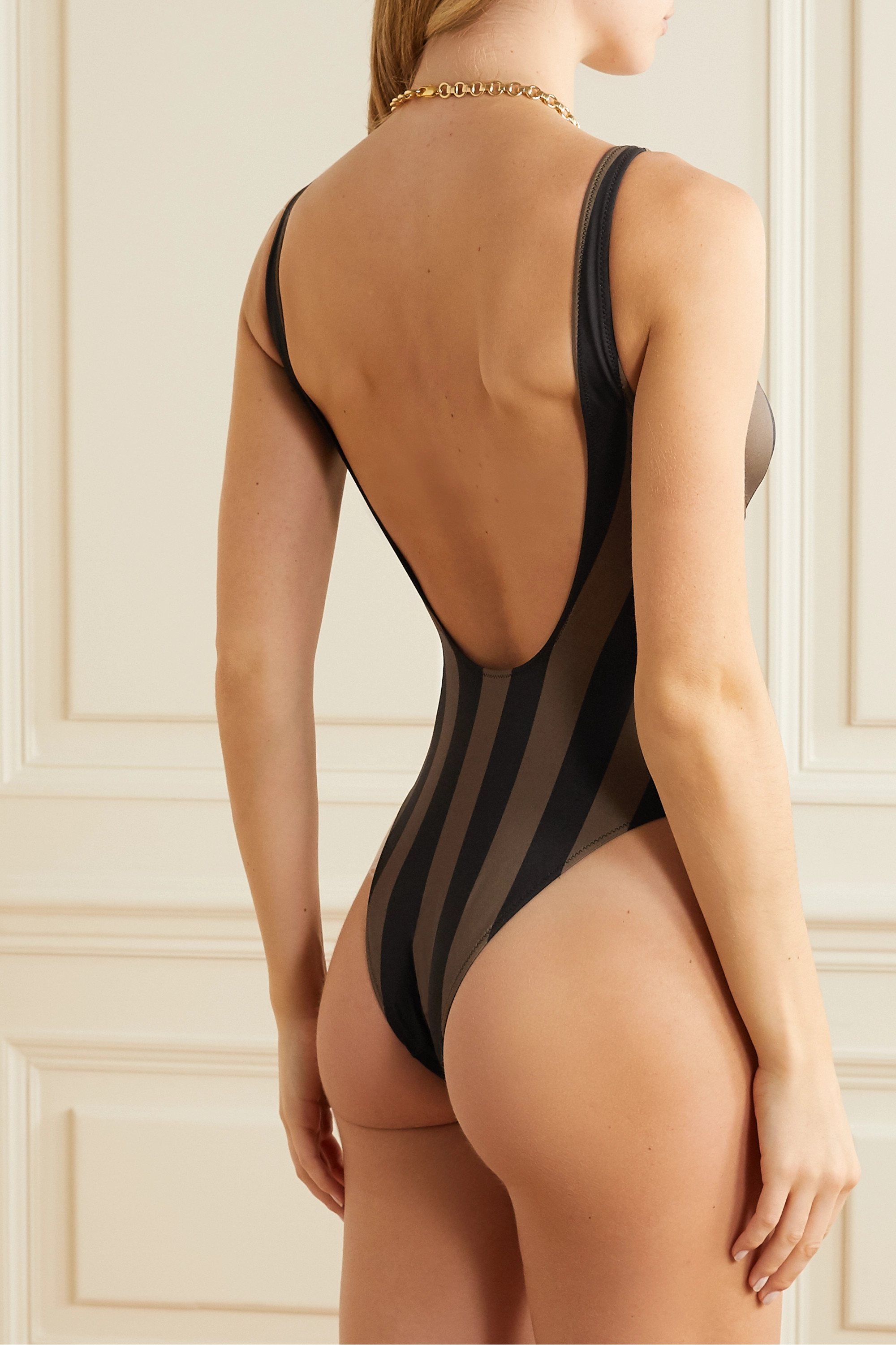 Fendi Printed underwired swimsuit