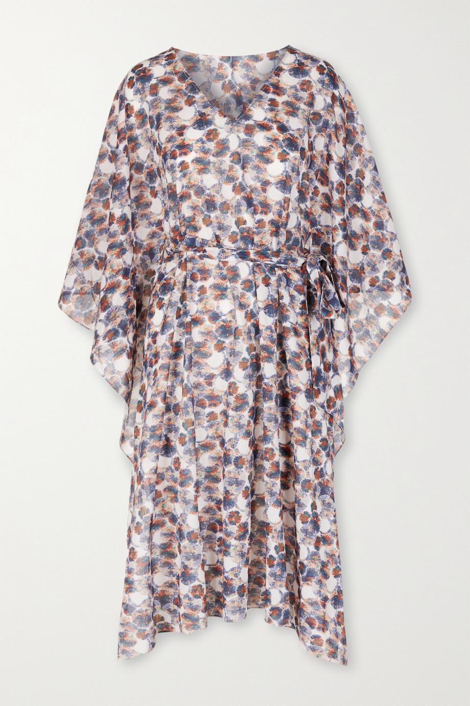 Marysia Yucca belted printed cotton-gauze kaftan