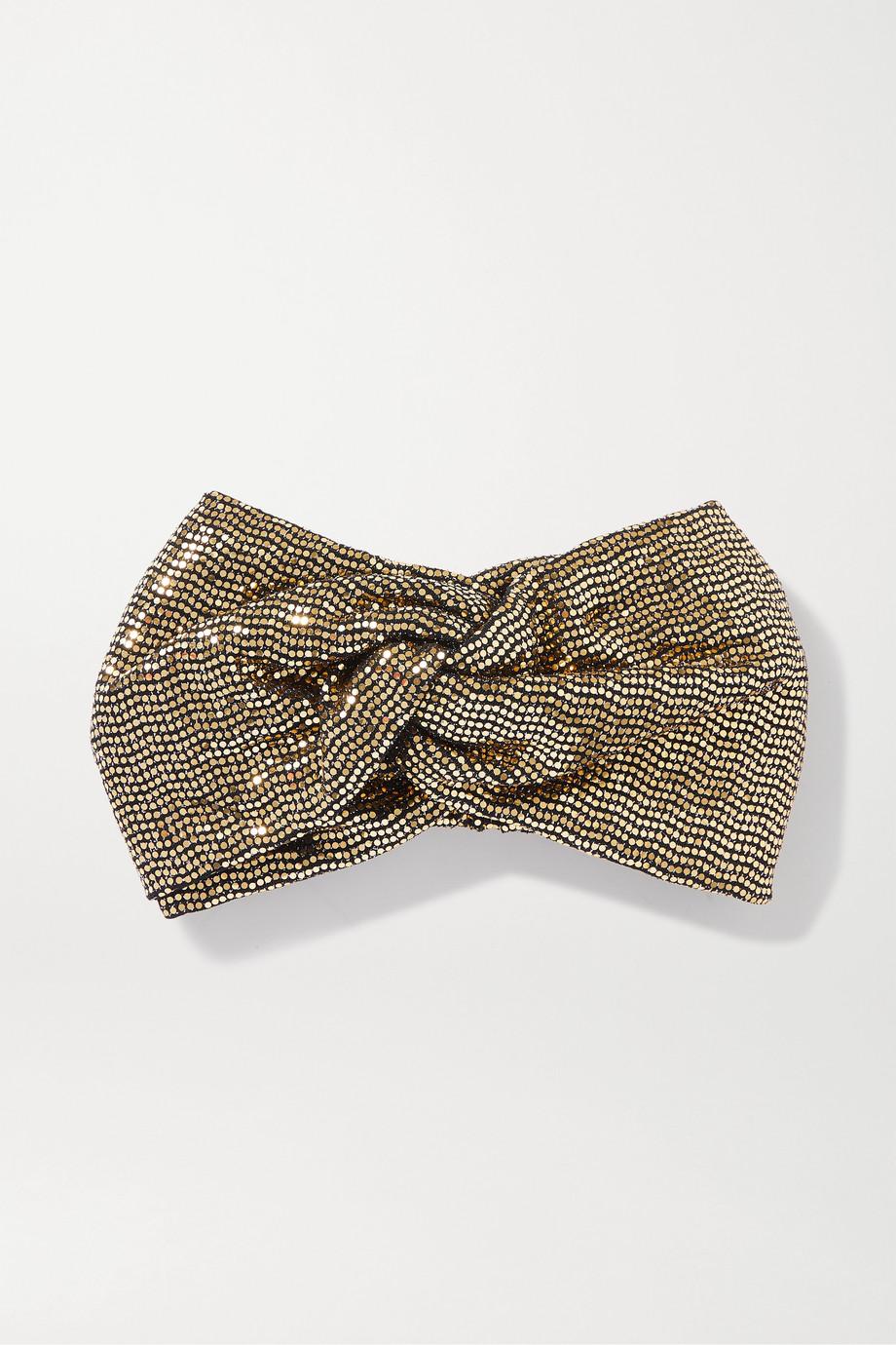 Gucci Twisted lamé headband