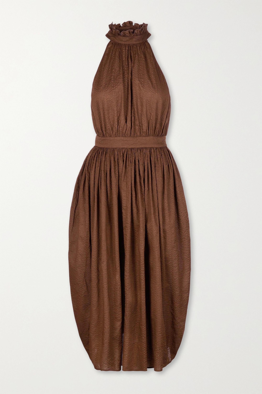 Marysia Sea Urchin textured-cotton midi dress