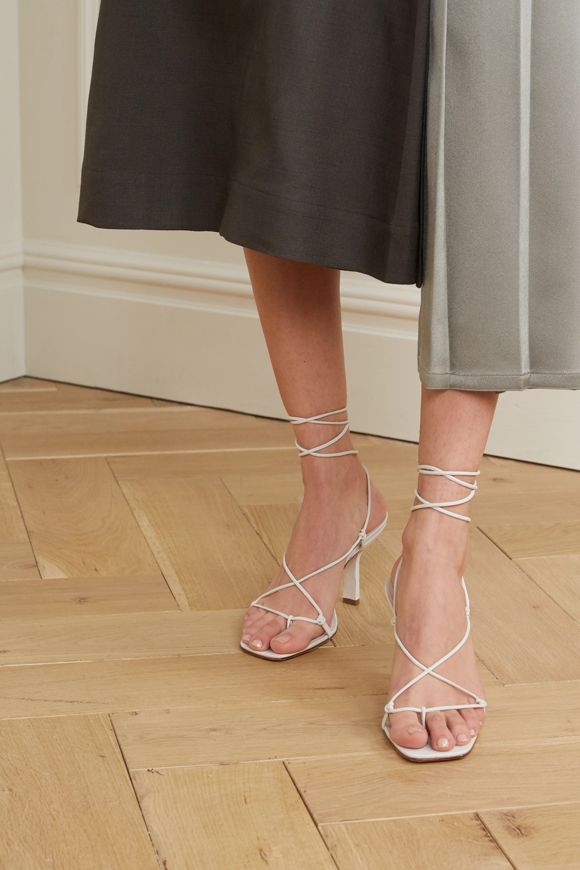 Porte & Paire Knotted leather sandals