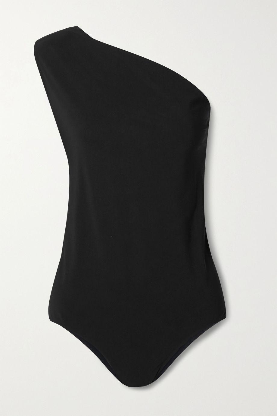 Bottega Veneta Cutout one-shoulder swimsuit