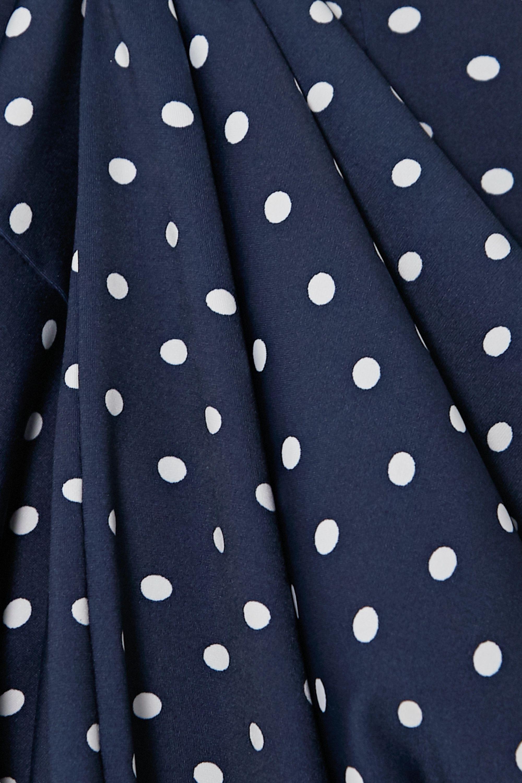 Marcia Tarot polka-dot stretch-jersey midi dress