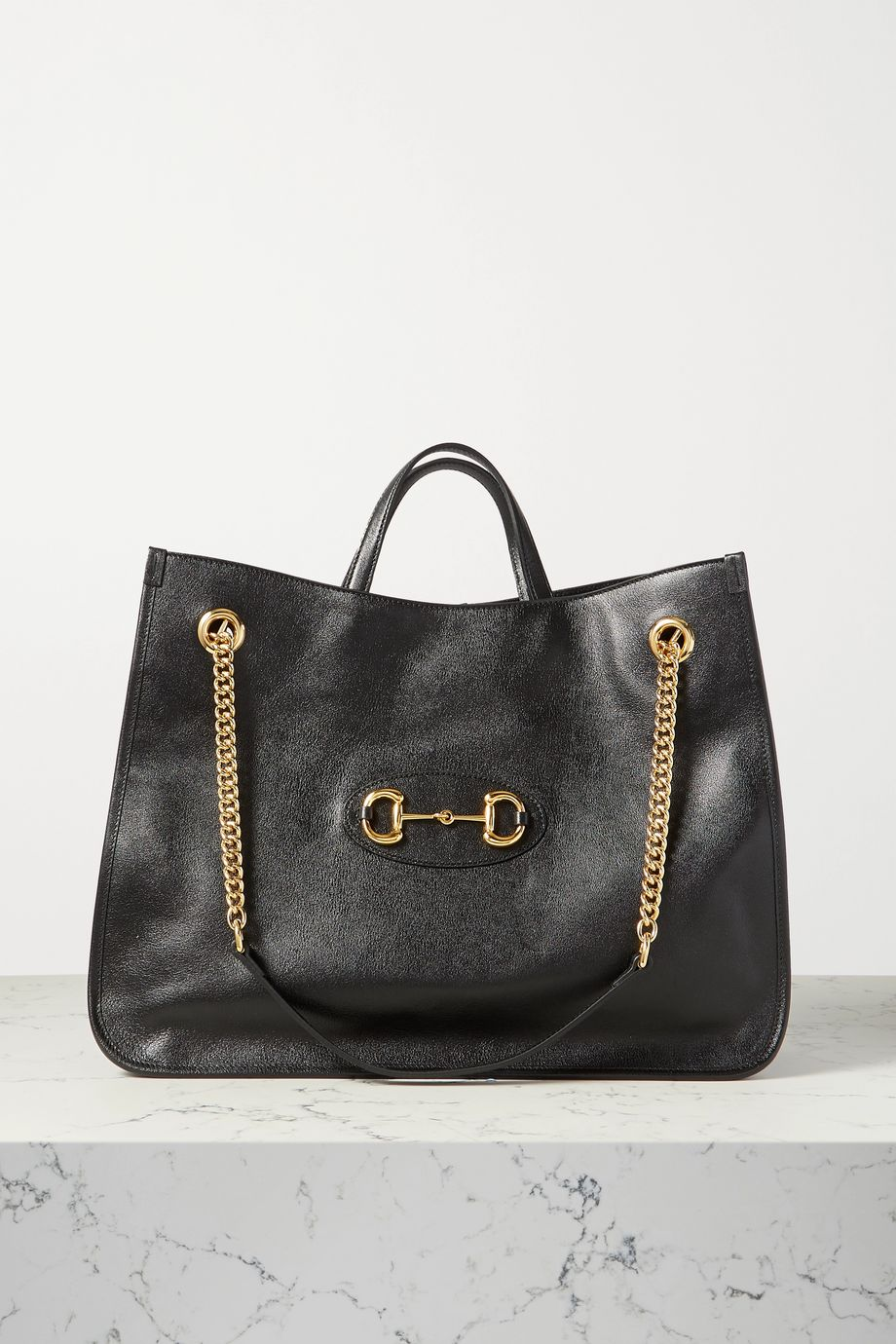 Gucci 1955 Horsebit large textured-leather tote