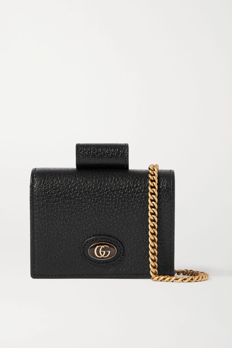 Gucci Porte Rouges embellished textured-leather wallet