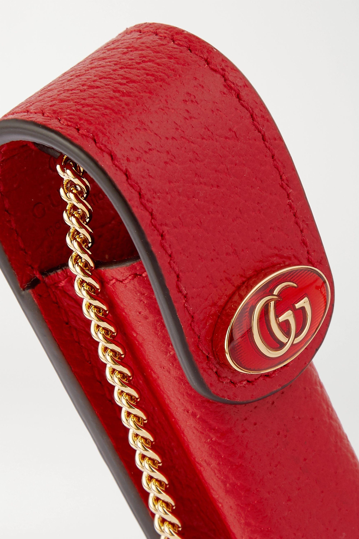 Gucci Porte Rouges 带缀饰纹理皮革唇膏小袋