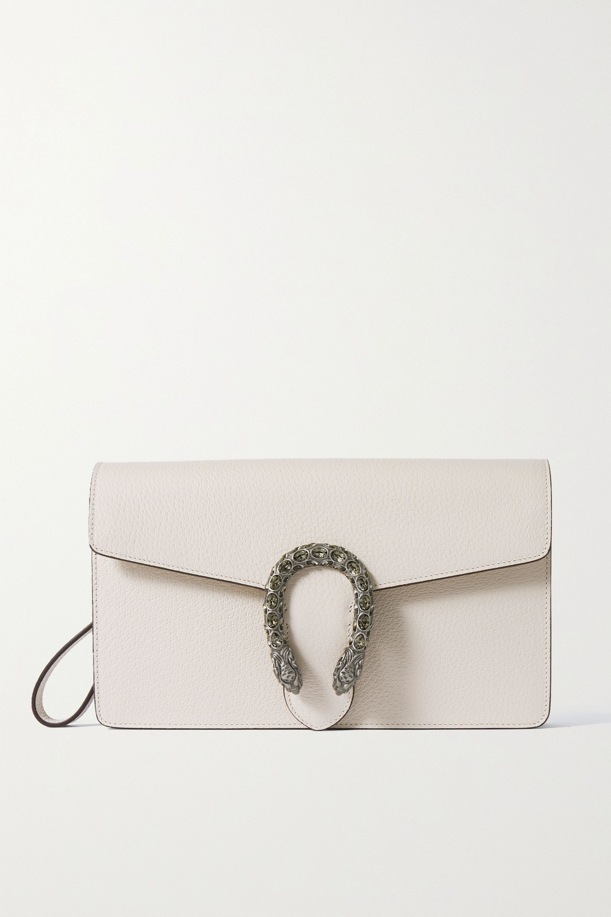 Gucci Dionysus crystal-embellished textured-leather clutch
