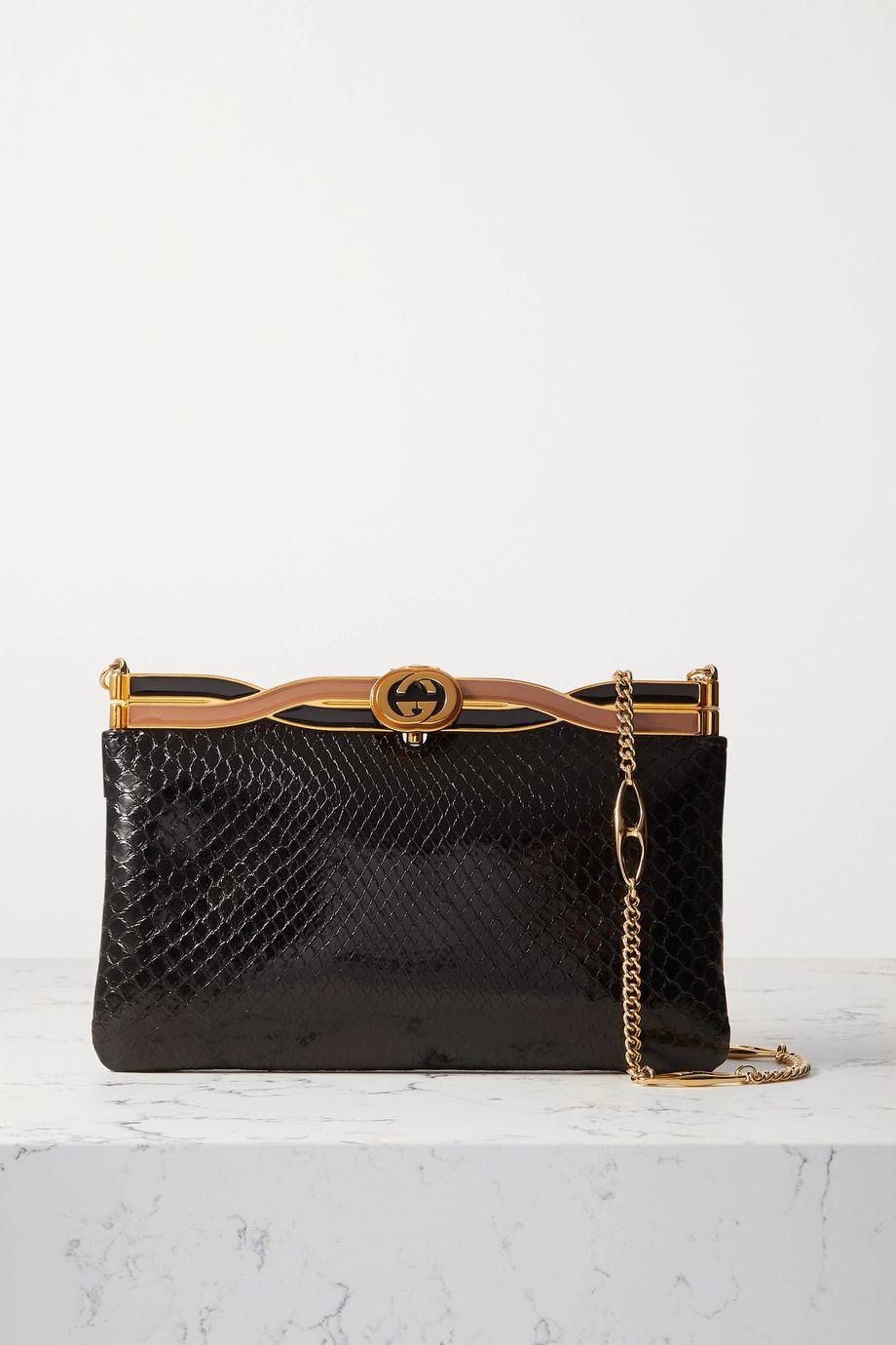 Gucci Broadway python shoulder bag