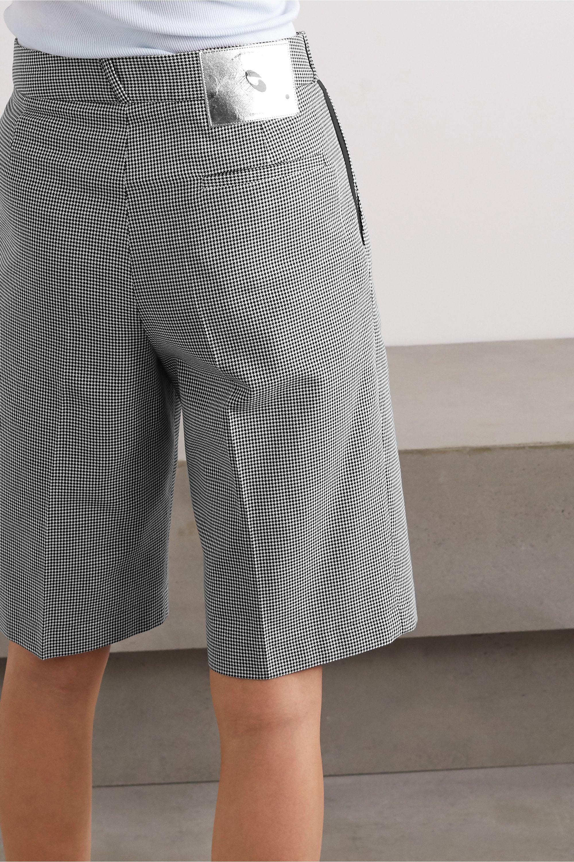 Coperni Houndstooth cotton shorts