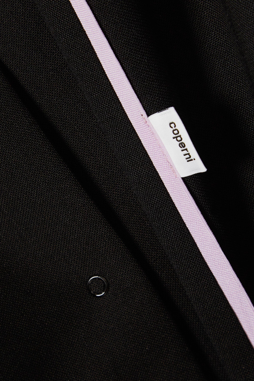 Coperni Striped wool-crepe shirt dress