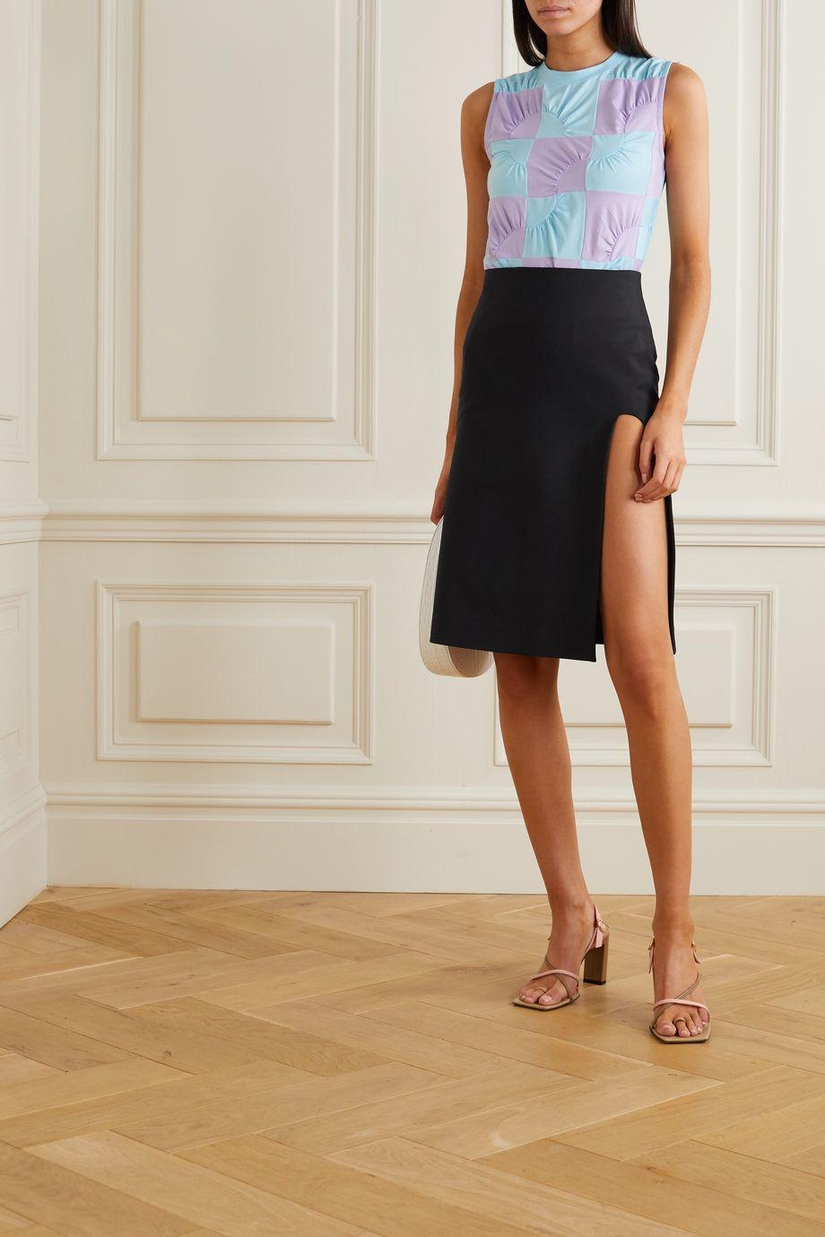 Coperni Cutout cotton-blend skirt