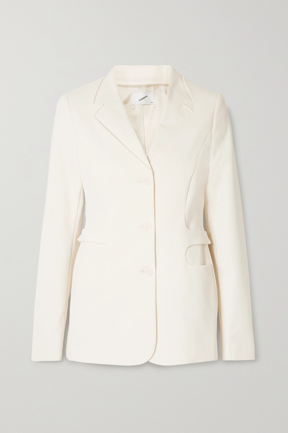 Coperni Trompe L'Oeil stretch cotton-blend blazer