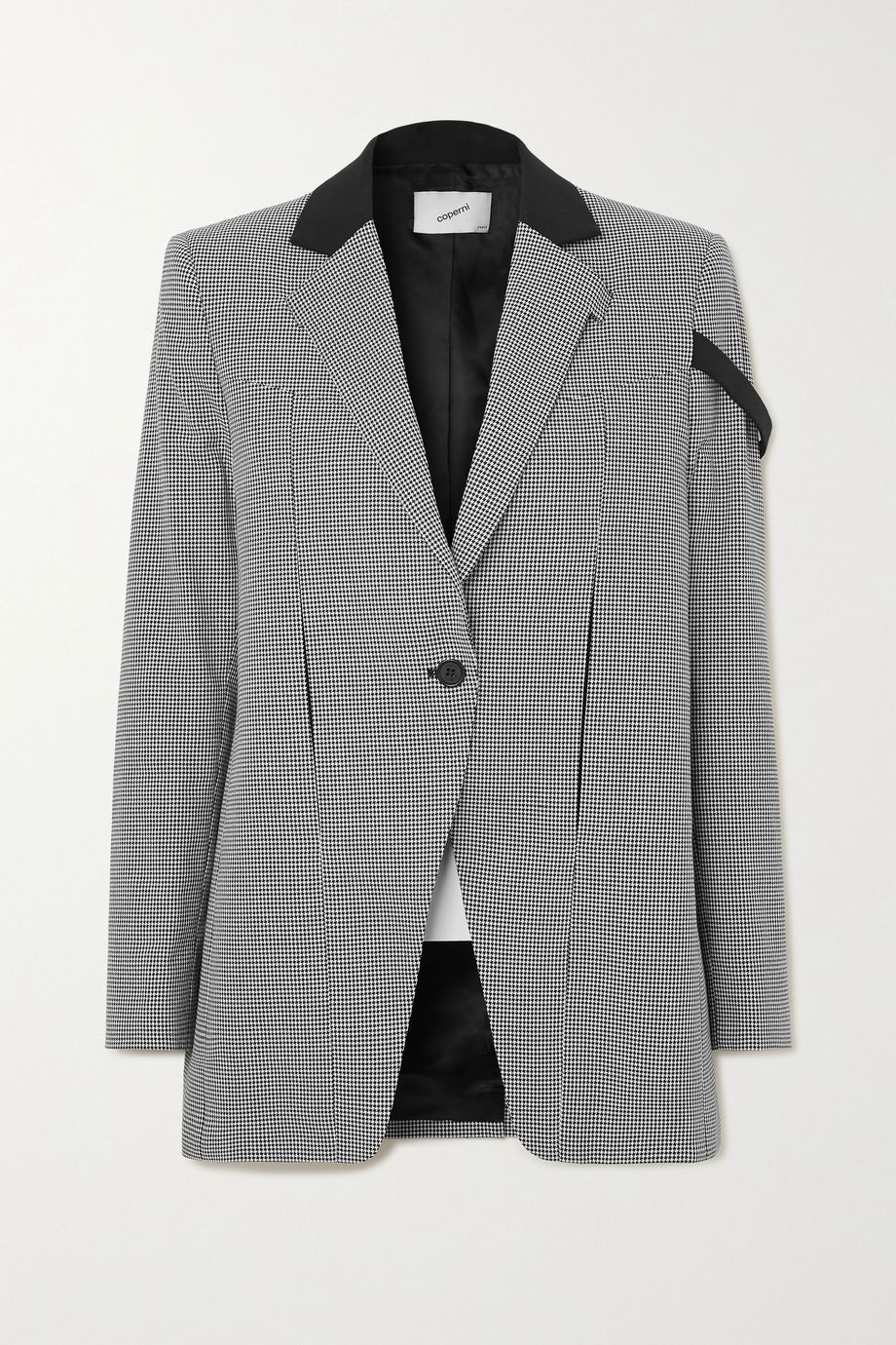 Coperni Connection houndstooth cotton jacket