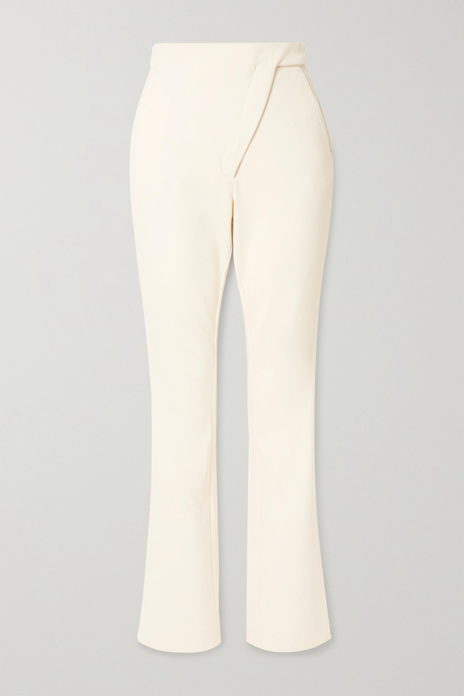 Coperni Paneled stretch cotton-blend bootcut pants