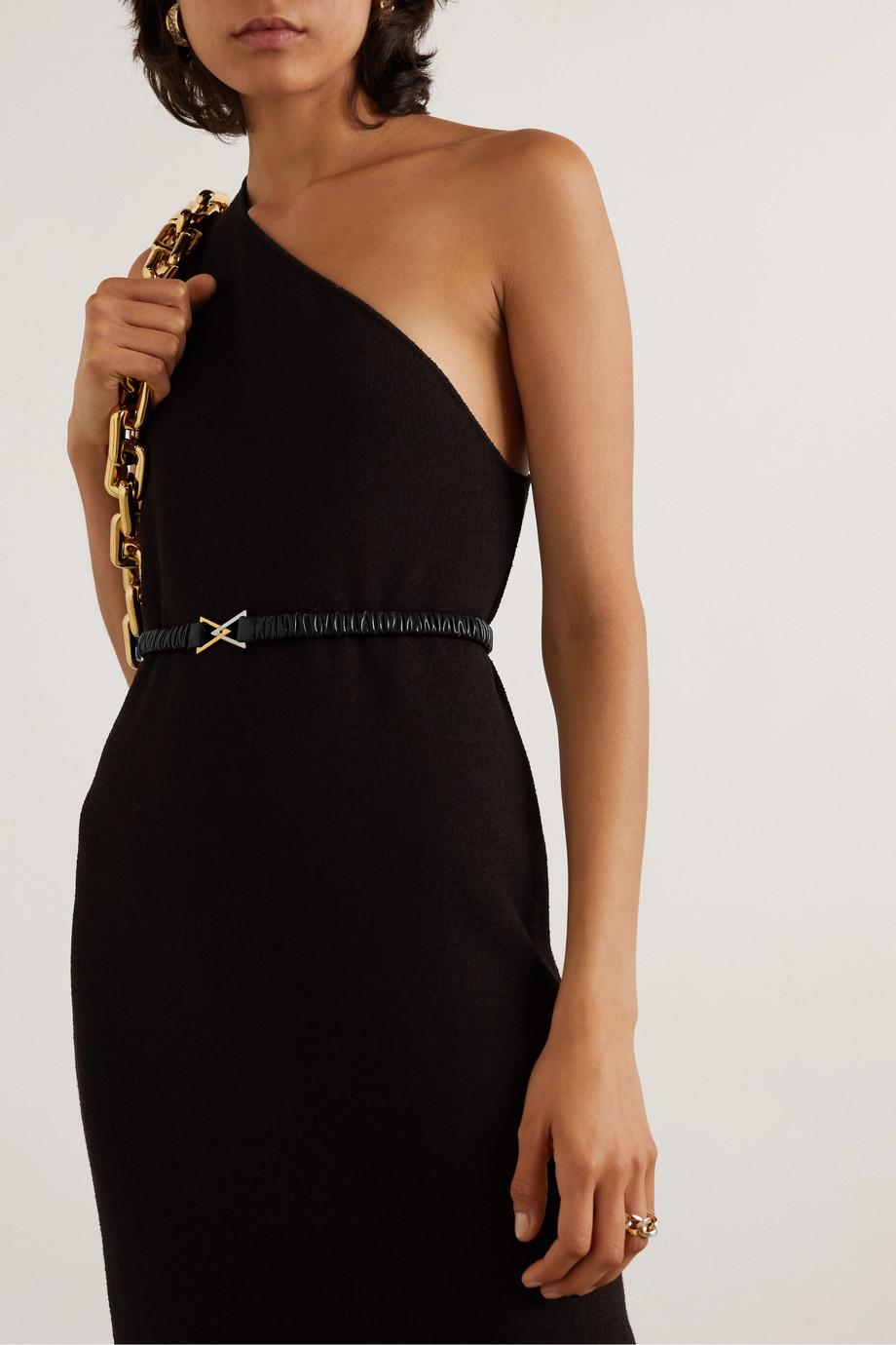 Bottega Veneta 褶饰皮革腰带