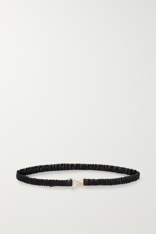 Bottega Veneta Ruched leather belt