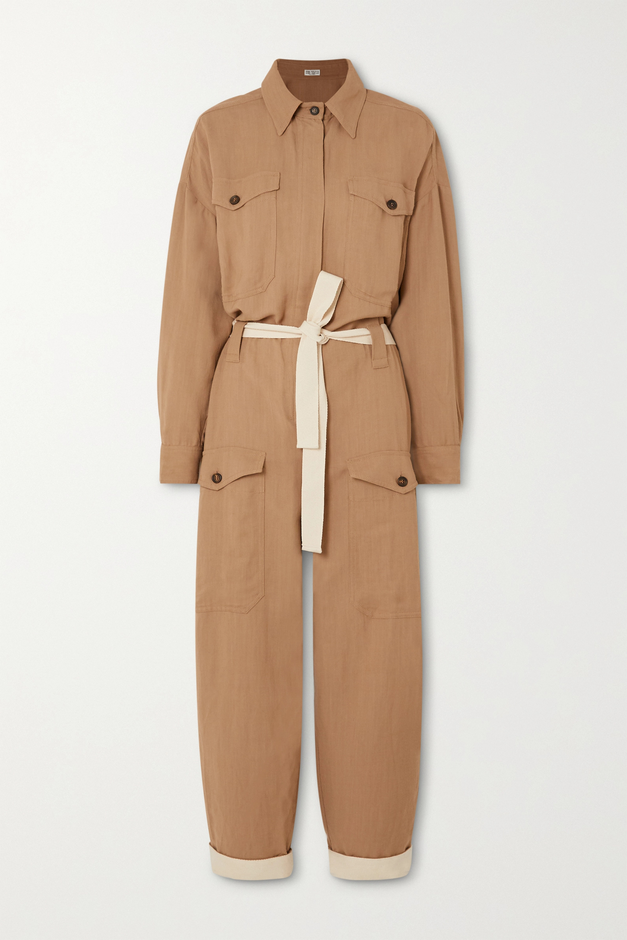 Brunello Cucinelli x Space for Giants 配腰带斜纹布连身裤