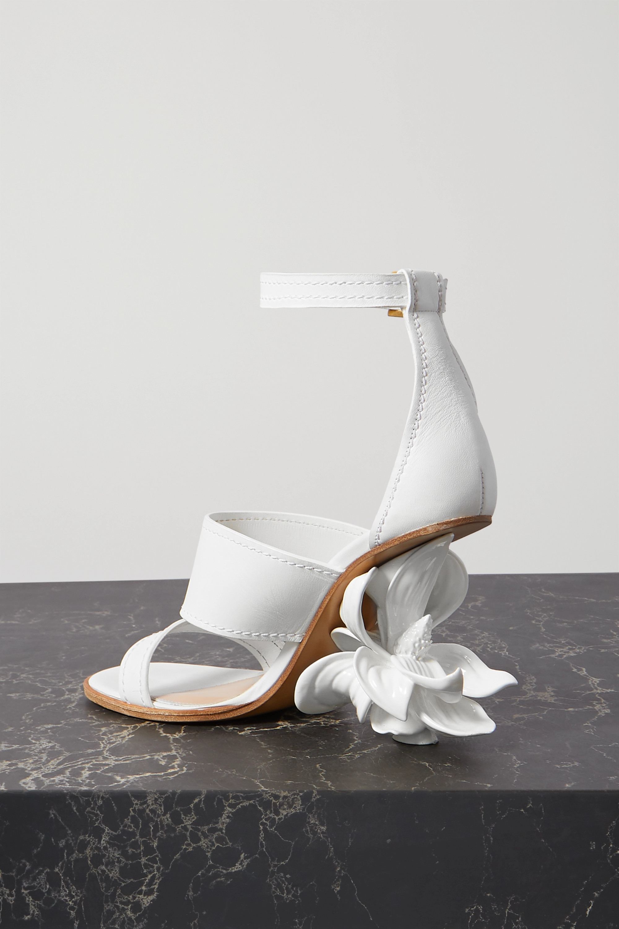 Alexander McQueen Resin and leather sandals
