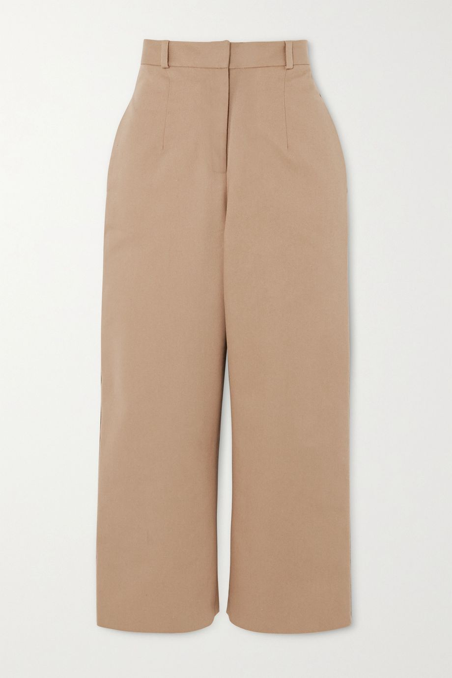 MATERIEL Button-detailed cotton-twill straight-leg pants