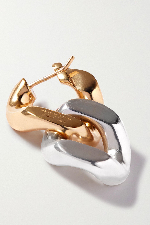 Bottega Veneta Boucles d'oreilles en métal doré et argenté