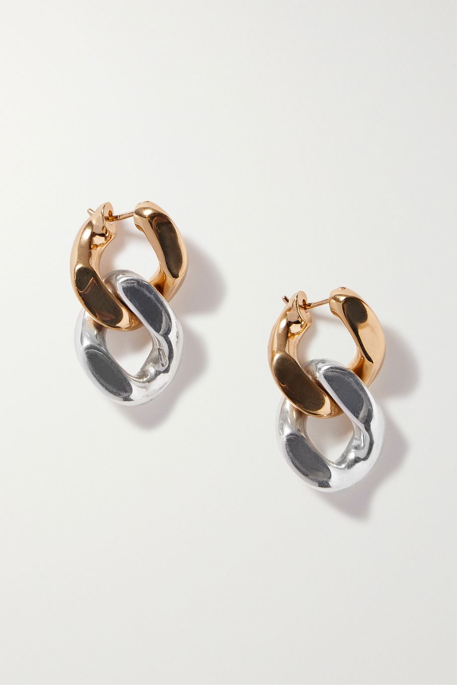 Bottega Veneta Gold and silver-tone earrings