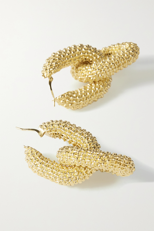 Bottega Veneta Textured gold-tone earrings